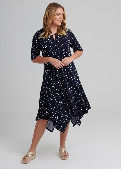 Shibori Spot Dress