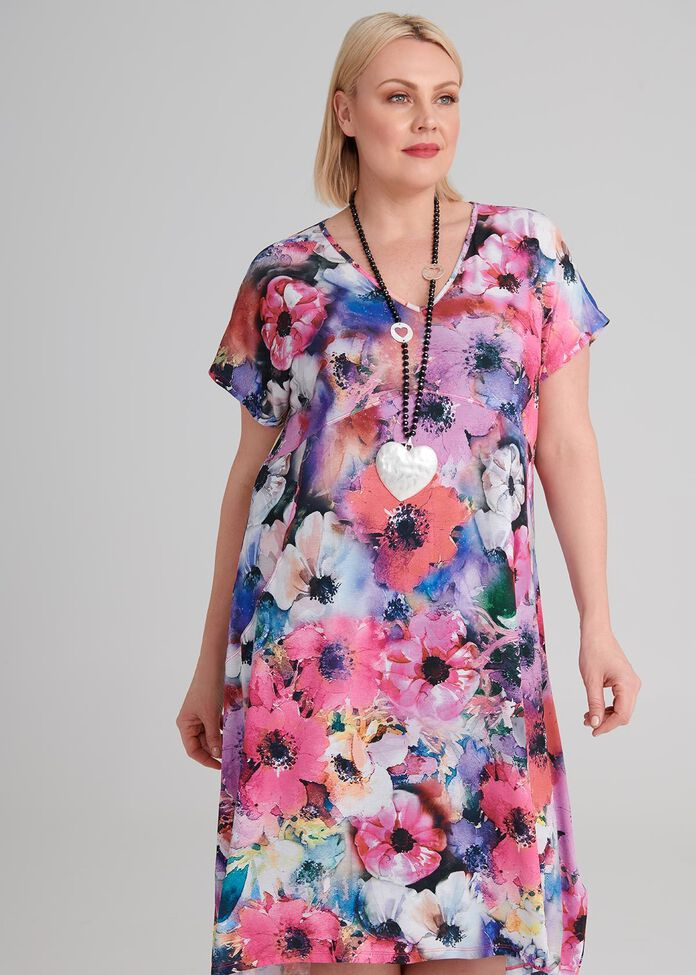 Floral Society Dress, , hi-res