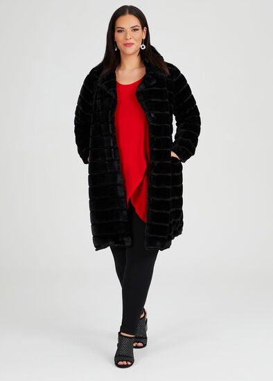 Noir Faux Fur Coat
