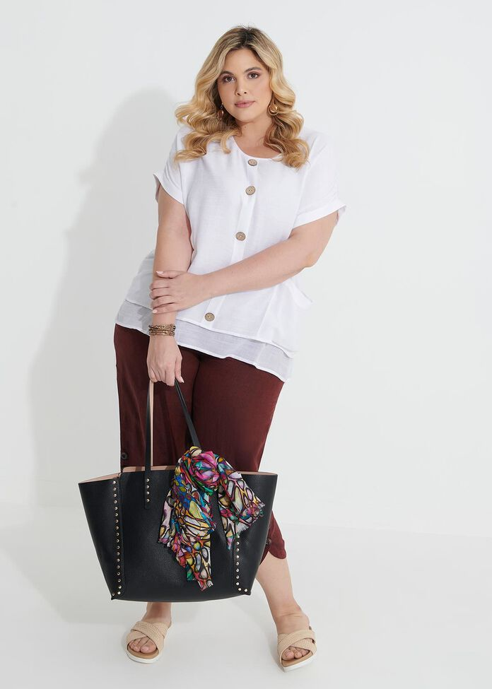 Buttons Relaxed Top, , hi-res