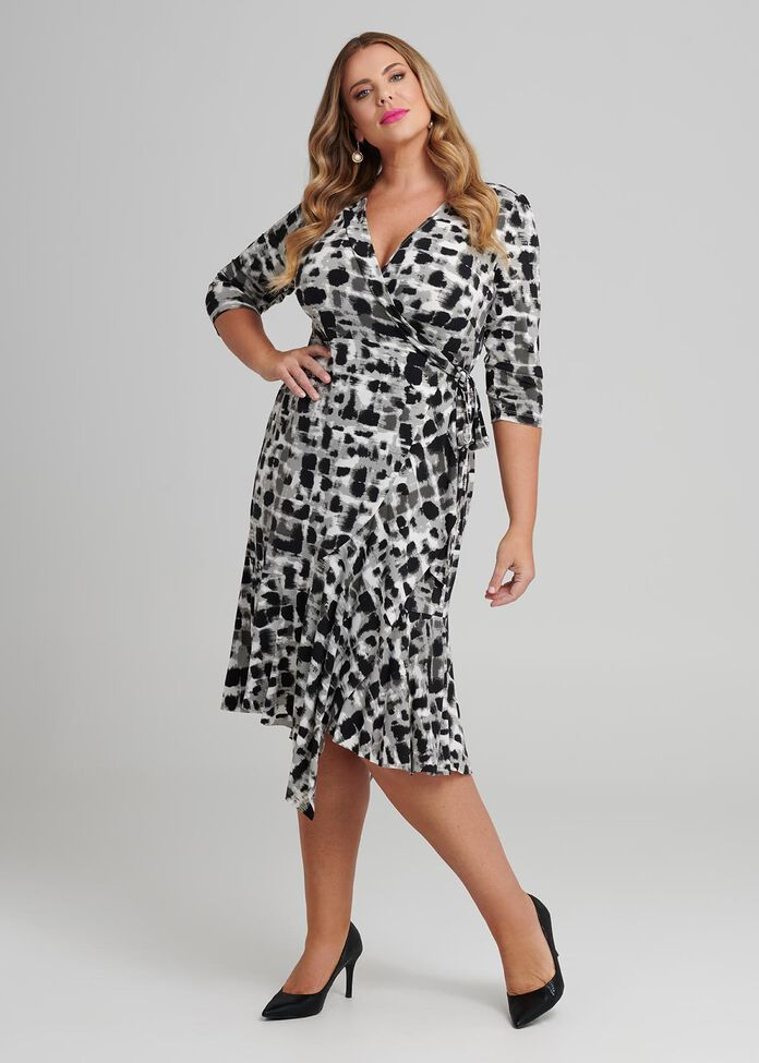 Line Manager Wrap Dress, , hi-res