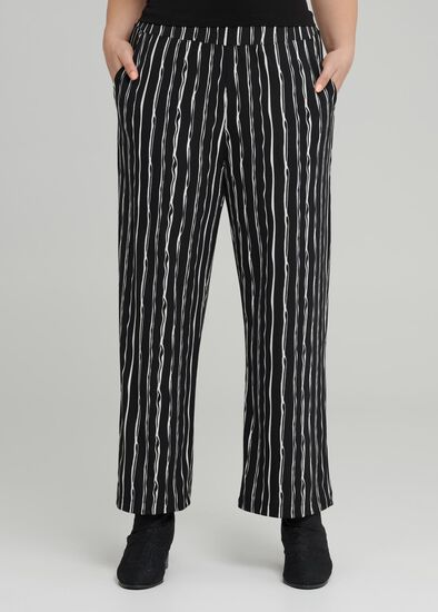 Chalk Stripe Wide Pant