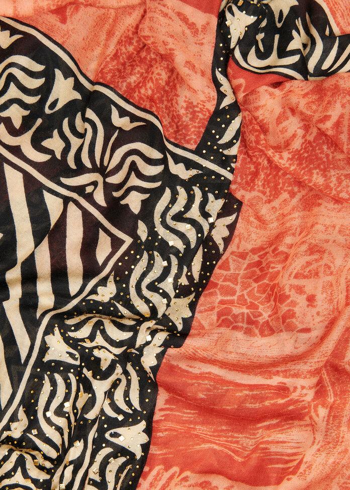 Terracotta Tribal Cape, , hi-res