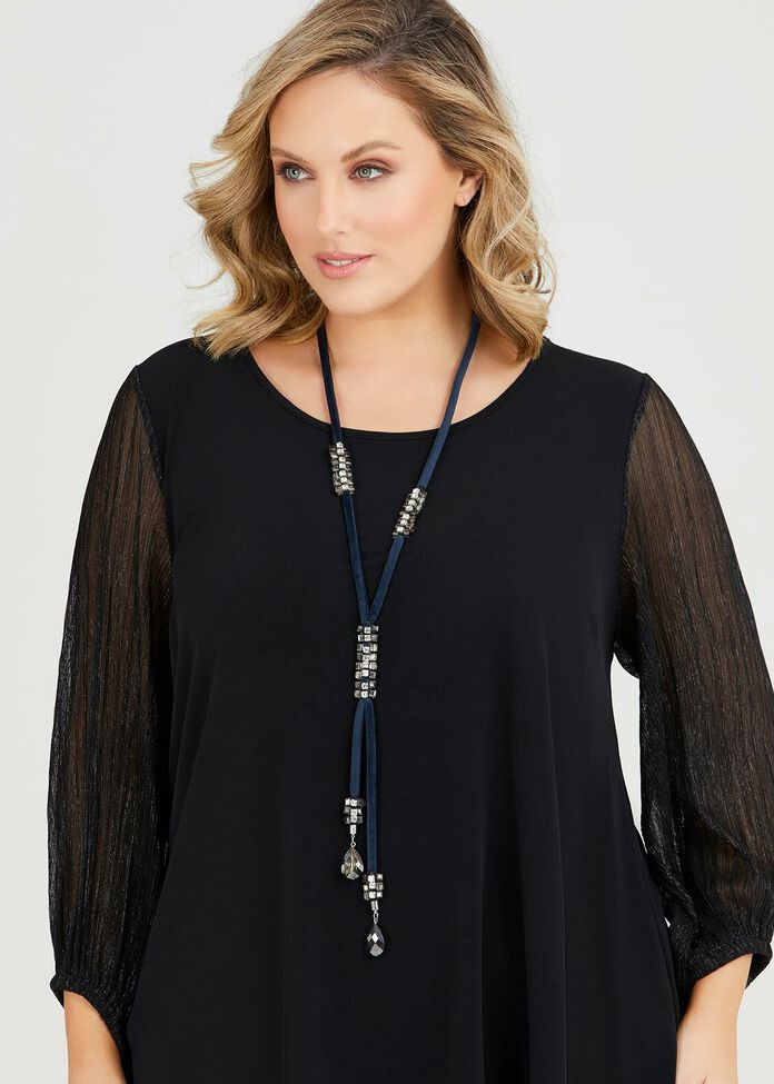 Crystal Velvet Necklace, , hi-res