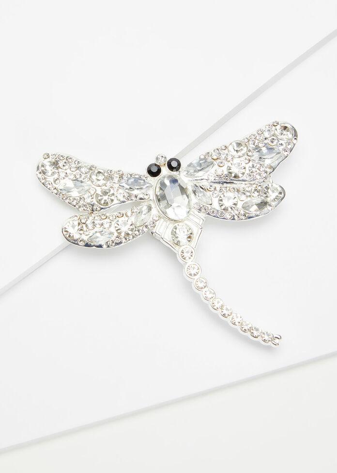 Diamond Dragonfly Brooch, , hi-res