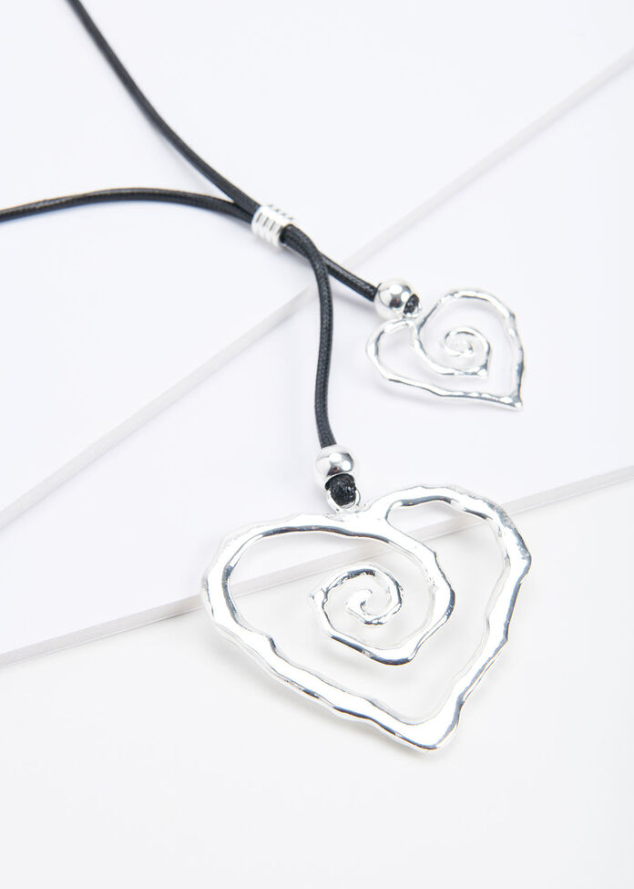 Spiral Heart Necklace, , hi-res
