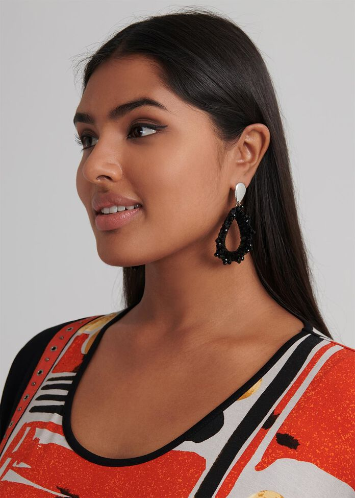 Sun Blaze Earrings, , hi-res