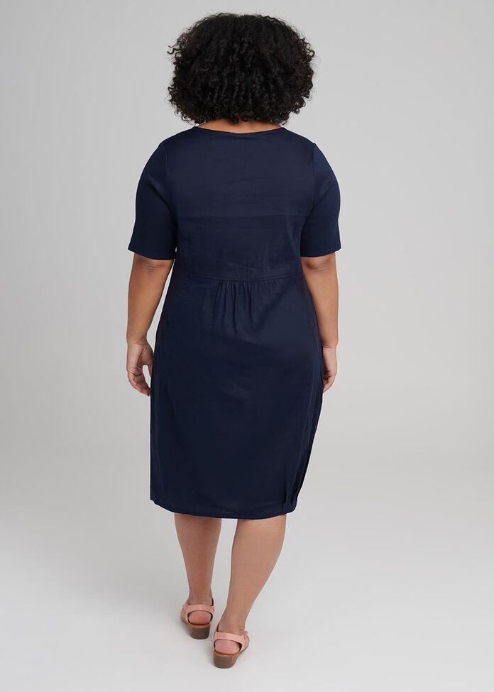 Latifa Linen Dress, , hi-res