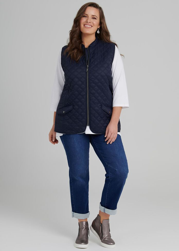 Eclectic Quilted Vest, , hi-res