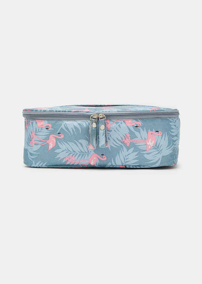 Flamingo Travel Cosmetic Bag, , hi-res
