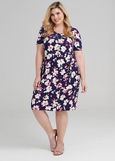 Fuschia Floral Dress
