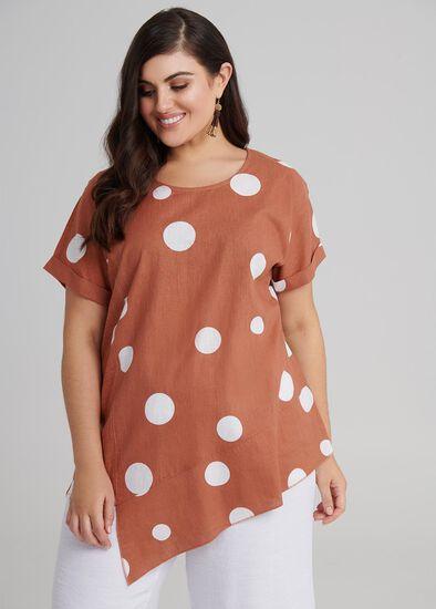 Spring Dot Linen Top