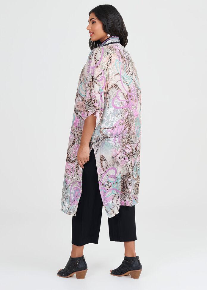 Mystique Wild Viscose Kimono, , hi-res