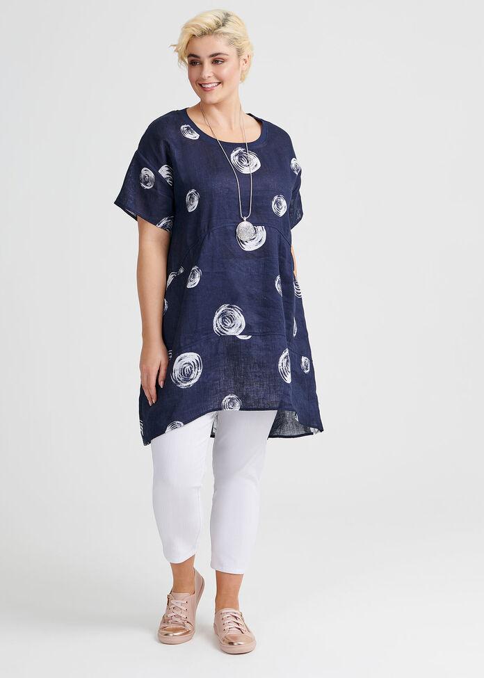 Circle Linen Tunic, , hi-res