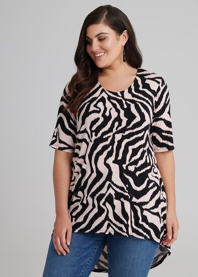 Zebra Stripes Top