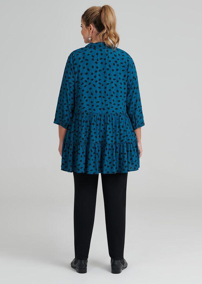 Abstract Layered Shirt, , hi-res