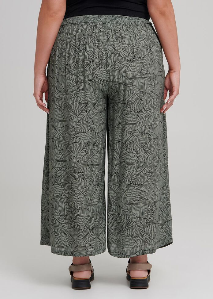 Lino Palm Crop Pant, , hi-res