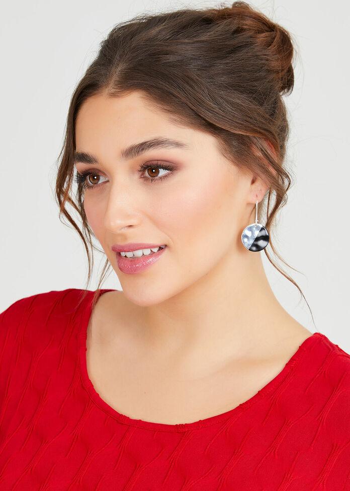 Dipped Disc Earrings, , hi-res