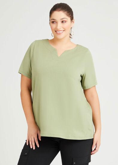 Organic Notch V-neck T-shirt