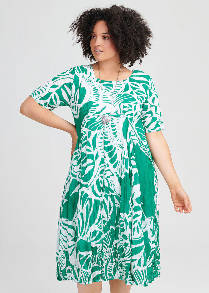 Cotton Tropics Dress, , hi-res