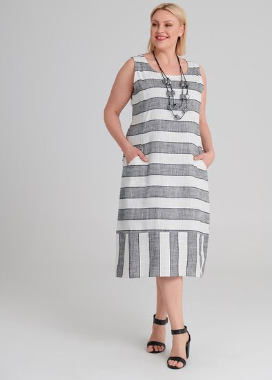 Linen Stay In Line Dress