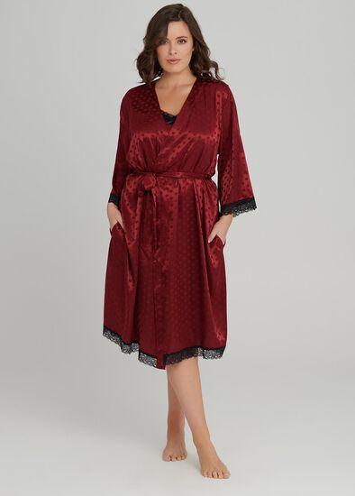 Lace Trim Robe