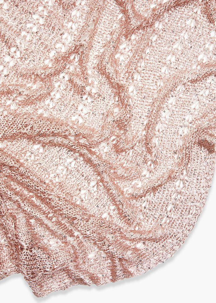 Rose Gold Twist Front Poncho, , hi-res