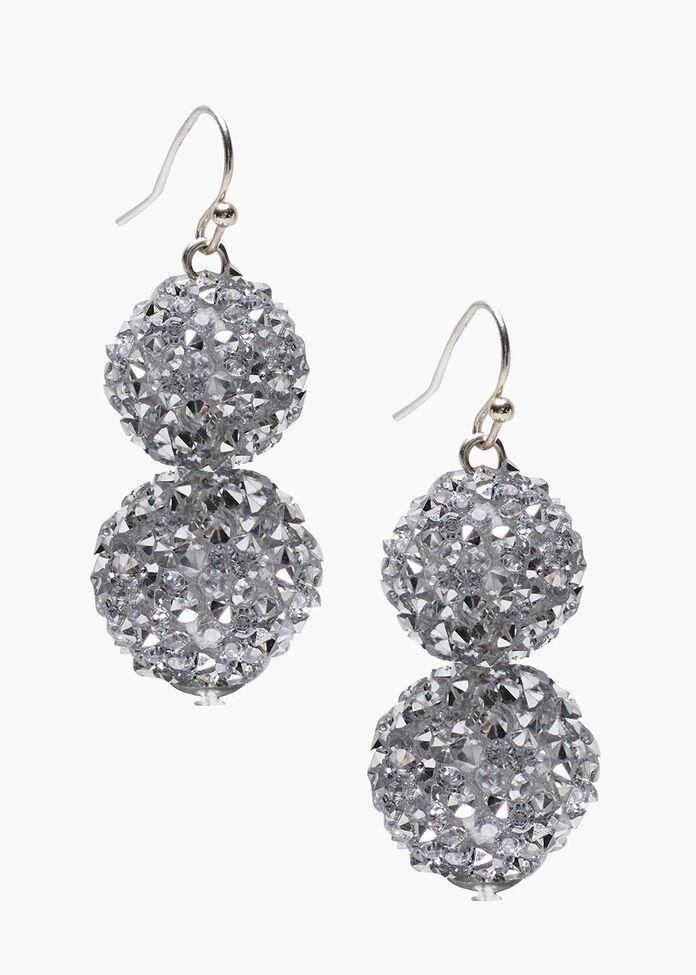 Diamante Ball Earrings, , hi-res