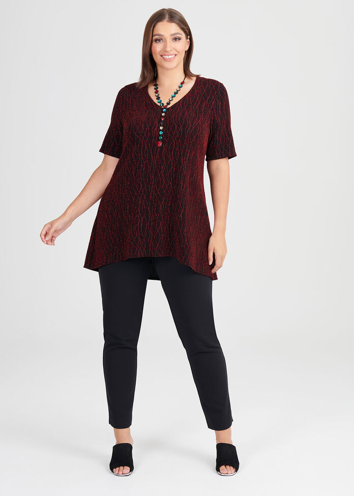 Fireglow Lurex Knit Top, , hi-res
