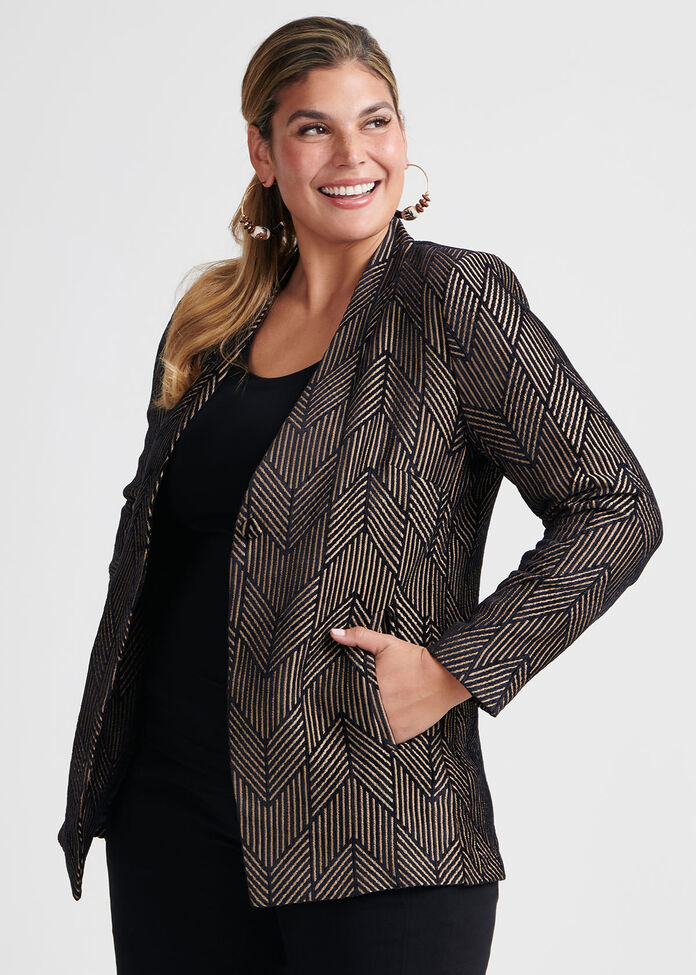 Chevron Chenille Jacket, , hi-res