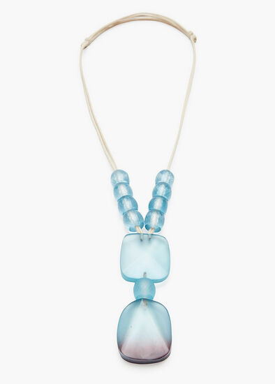 Frosted Turquoise Necklace