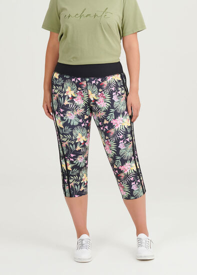 Summer Palm Crop Leggings