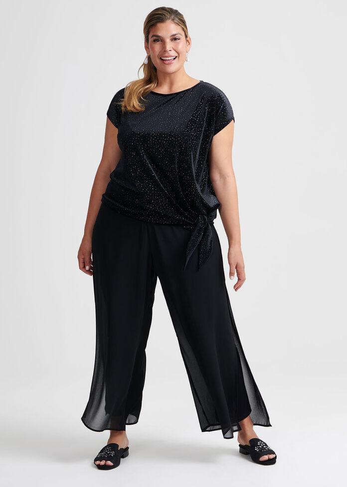 Suzana Glitter Velvet Top, , hi-res