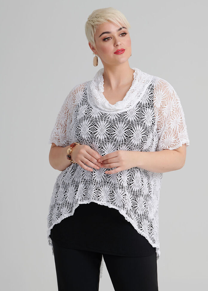 Map It Out Lace Top, , hi-res
