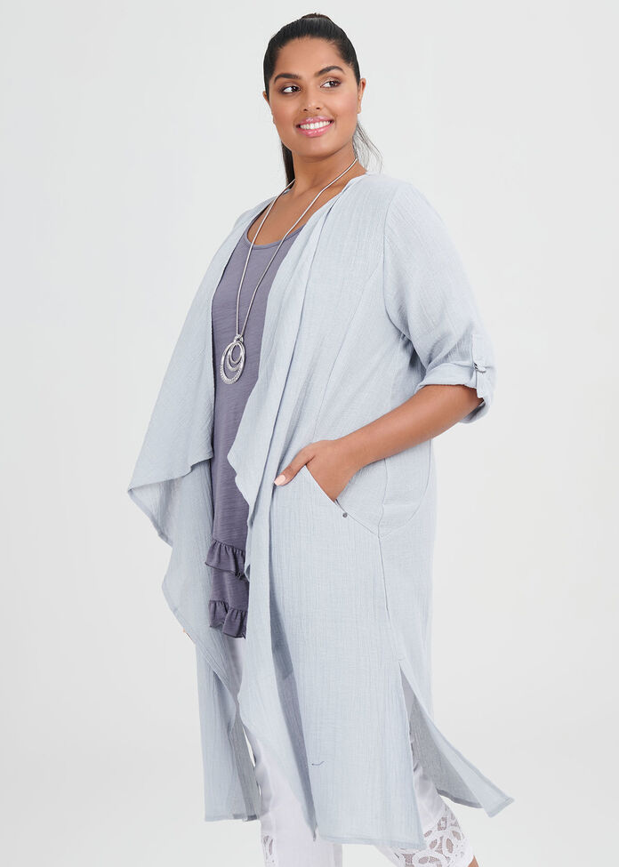 Linen Whitehaven Duster, , hi-res