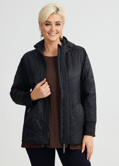 Luxe Quilt Hooded Jacket