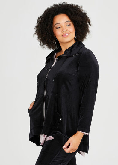Velour Relaxed Lounge Cardigan