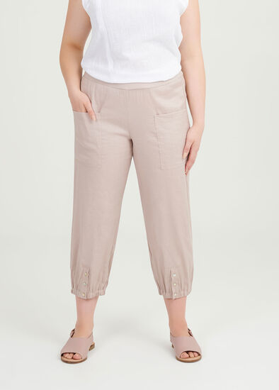 Easy Linen Crop Pant