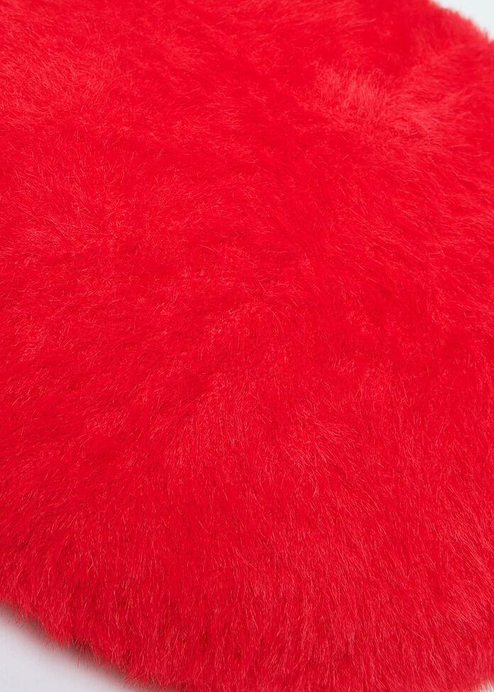Fuzzy Knit Beret, , hi-res