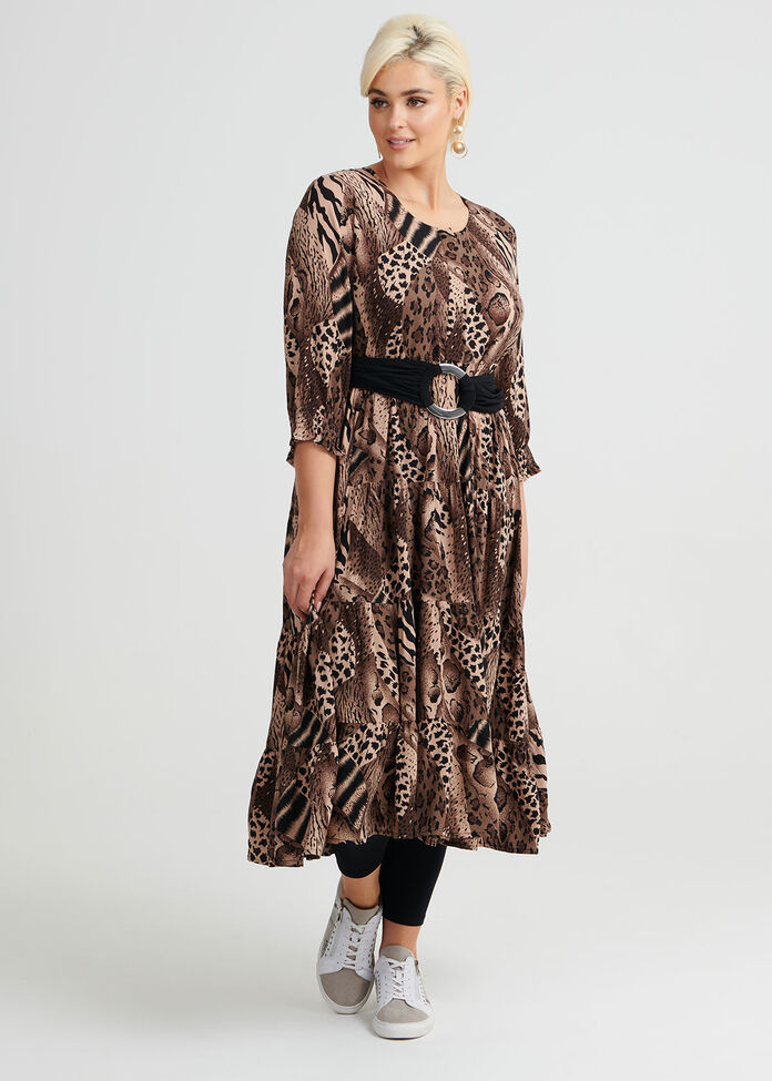 Animal Hues Maxi Dress, , hi-res