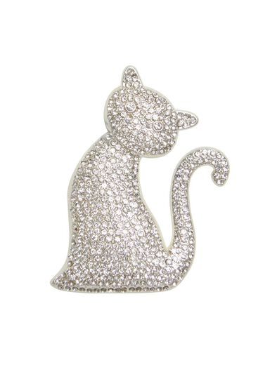 Crystal Kitten Brooch
