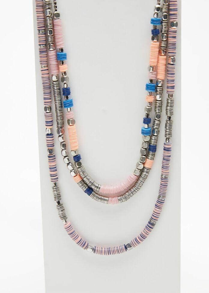 Sequin Beaded Necklace, , hi-res