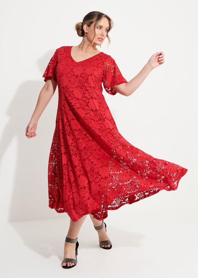 Scarlet Lace Dress, , hi-res