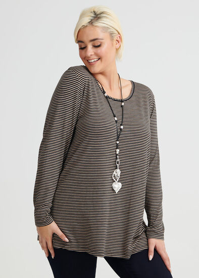 Wool Bamboo Stripe Top