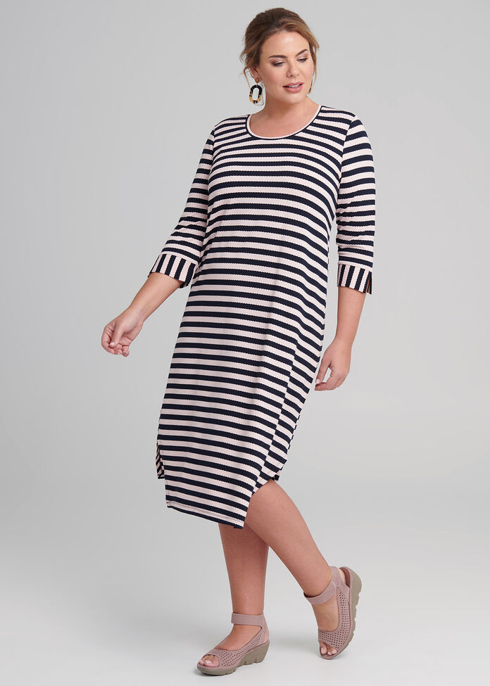 Along The Stripes Dress, , hi-res