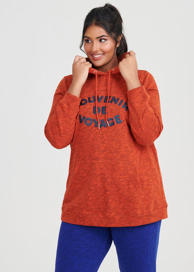 Burnt Orange Melange Hoodie