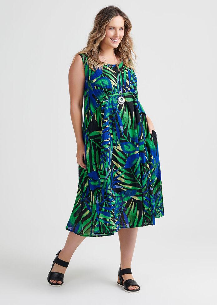 Cotton Palmita Dress, , hi-res