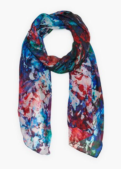 Forest Lake Silk Scarf