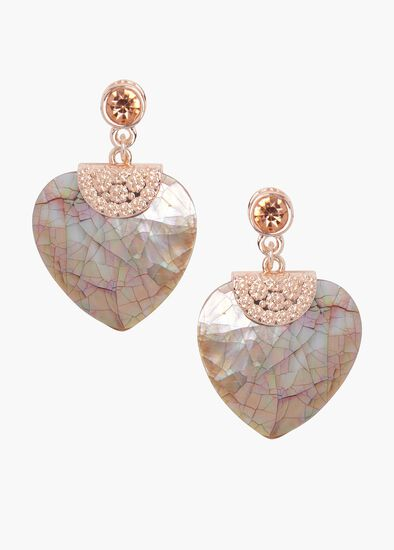Russet Heart Earrings