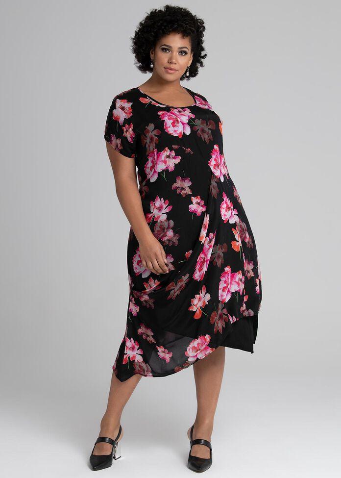 Melodrama Drape Dress, , hi-res